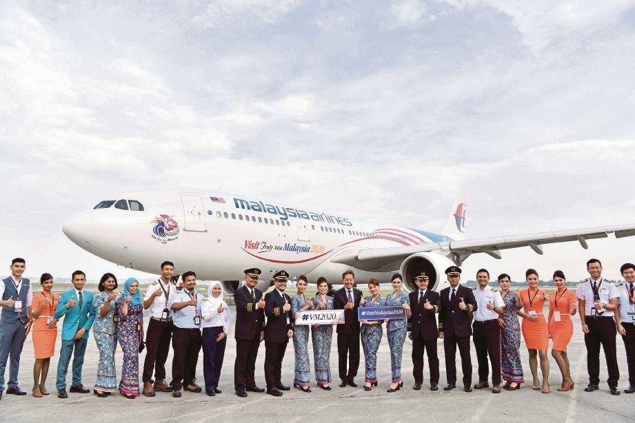 MALAYSIA Airlines papar logo Tahun Melawat Malaysia 2020 melalui penerbangan MH386 ke Shanghai.