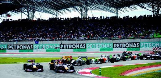 PERLUMBAAN F1 yang berlangsung di Litar Sepang.
