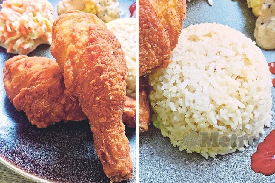 AYAM goreng dan nasi mentega menambat selera si kecil anda.