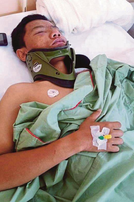 MUHAMMAD Hafizuddin kini menerima rawatan di hospital.