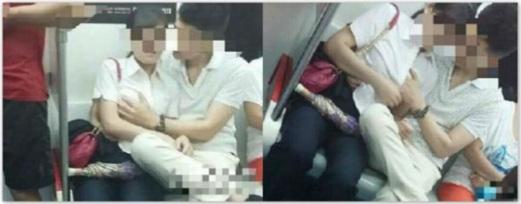 Pasangan Bodoh selamba Bercumbu dalam kereta api