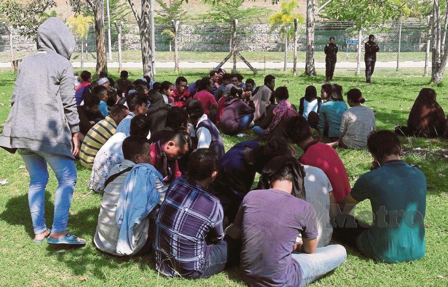 PATI warga Indonesia yang melalui jalan belakang pulang ke negara asal sempena Aidilfitri ditahan APMM.