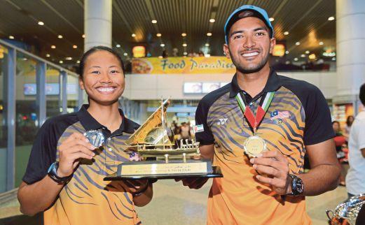 KHAIRULNIZAM (kanan) dan Nur Shazrin terpilih ke Sukan Olimpik Rio.