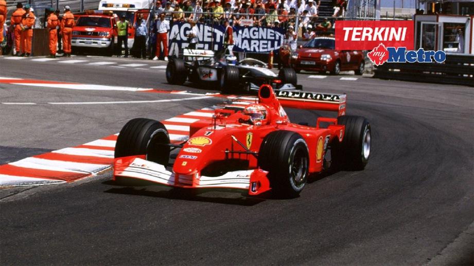 KERETA F1 dipandu Michael Schumacher yang bakal dilelong. FOTO Sotheby's
