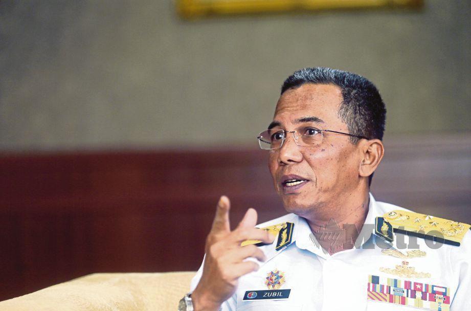 KETUA Pengarah APMM Datuk Mohd Zubil Mat Som. FOTO Mohd Fadli Hamzah
