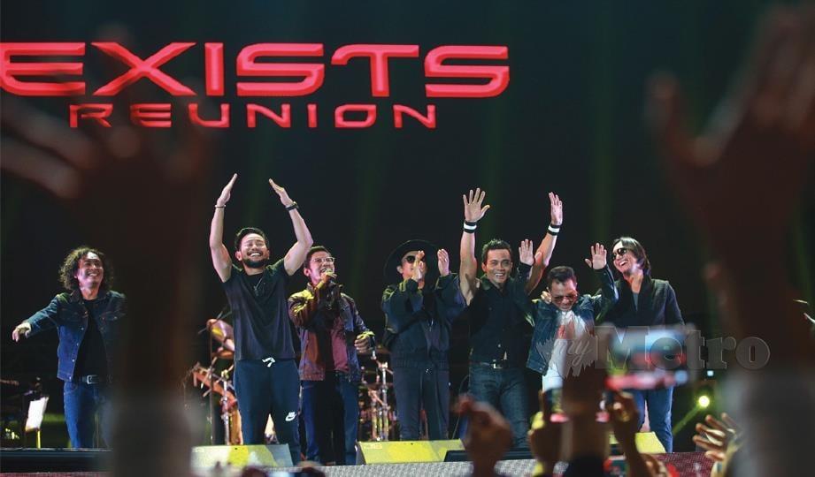 Mamat, Ezad pukau 4,500 peminat dalam konsert Exists Reunion kelmarin.