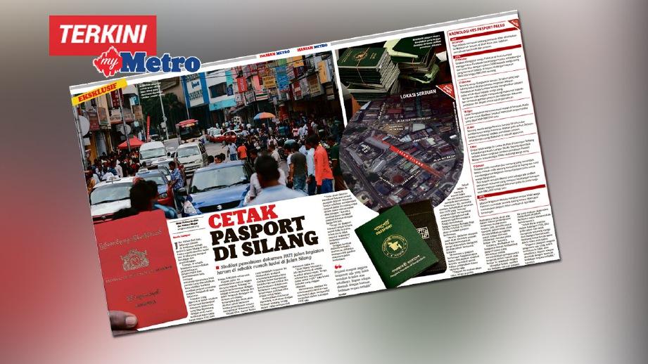 LAPORAN dalam akhbar Harian Metro pada 27 Mac lalu.