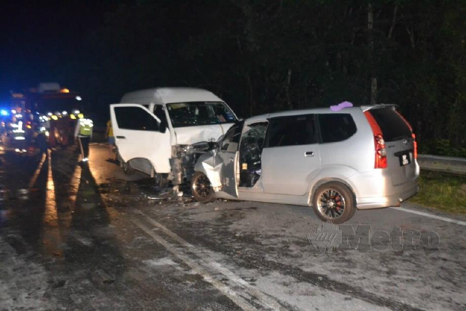 KEADAAN kenderaan terbabit kemalangan. FOTO Ihsan PDRM