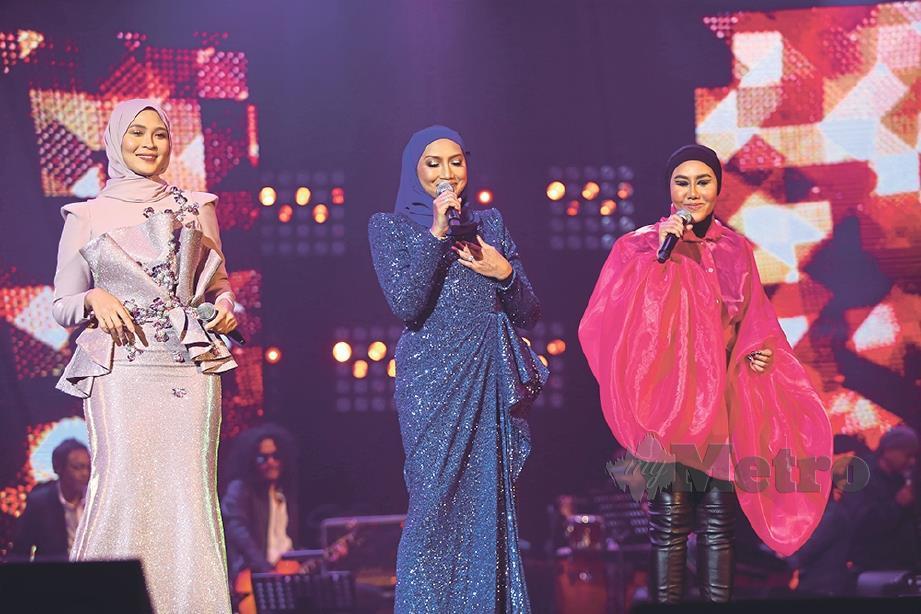 ELLA, Ziana Zain, Siti Nordiana gamatkan Auditorium Perdana Angkasapuri  FOTO: Nur Adibah Ahmad Izam