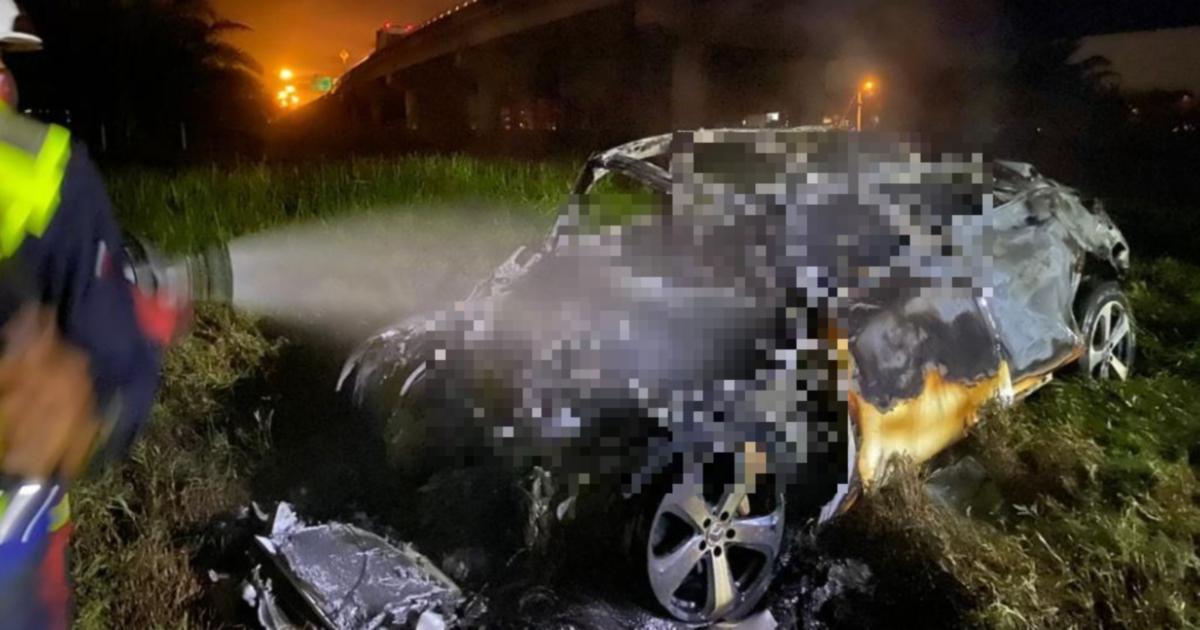 [UPDATE] Empat maut, kereta terbakar 1