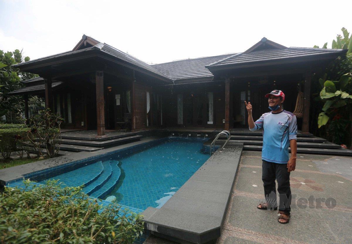 KAMARUDIN cuba merealisasikan konsep kediaman Jawa Bali di Kampung Delek Klang.