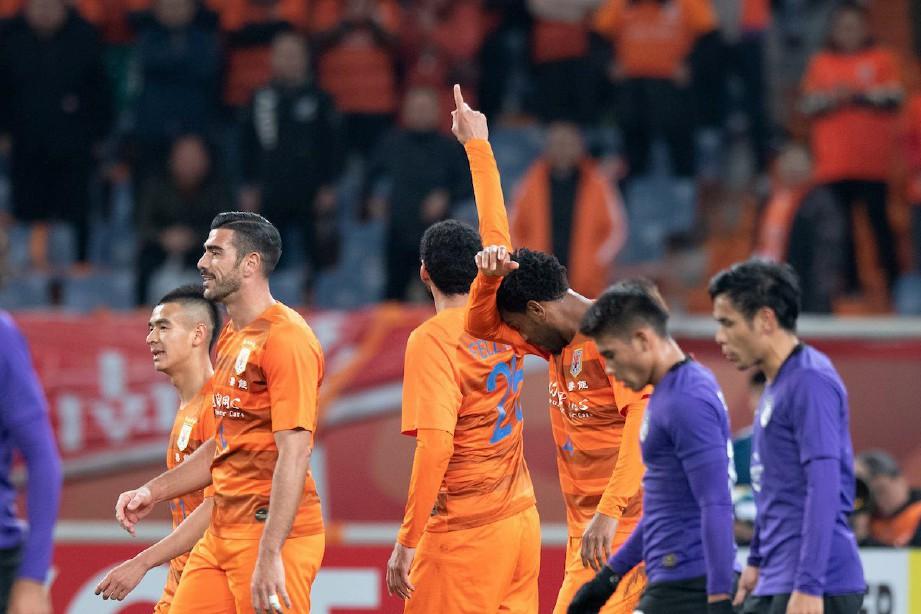 SHANDONG meraikan kemenangan. FOTO/AFC