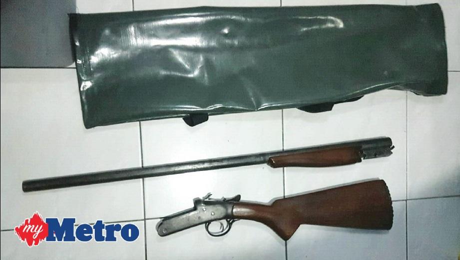 Ditahan bersama senapang patah, peluru | Harian Metro
