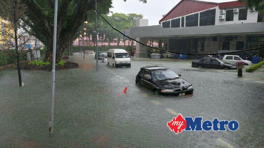 ANTARA kawasan dilanda banji. FOTO ihsan Jabatan Perancangan Bandar Daerah Muar