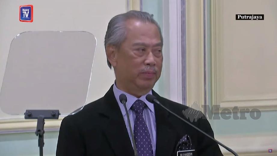MUHYIDDIN mengumumkan senarai Menteri Kanan, Menteri dan Timbalan Menteri.