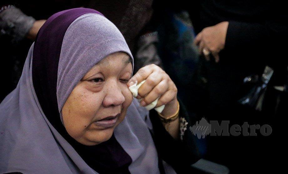 IBU kepada Abam Bocey, Sabariah Arshad, 63. FOTO Asyraf Hamzah