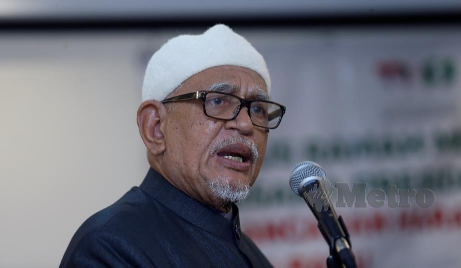 PRESIDEN PAS, Datuk Seri Abdul Hadi Awang . FOTO SUPIAN AHMAD.