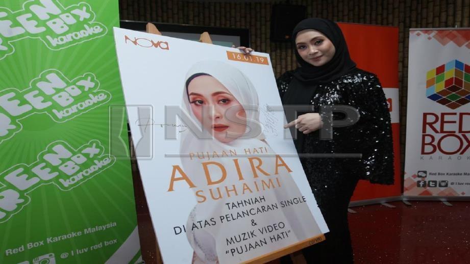 VIDEO klip Pujaan Hati nyanyian Adira ditonton hampir satu juta sejak dimuat naik di YouTube. FOTO Zulfadhli Zulkifli