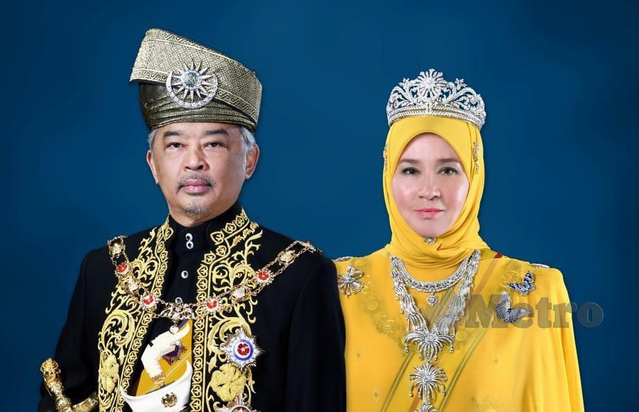 Al Sultan Abdullah dan Tunku Hajah Azizah Aminah. FOTO Arkib NSTP.