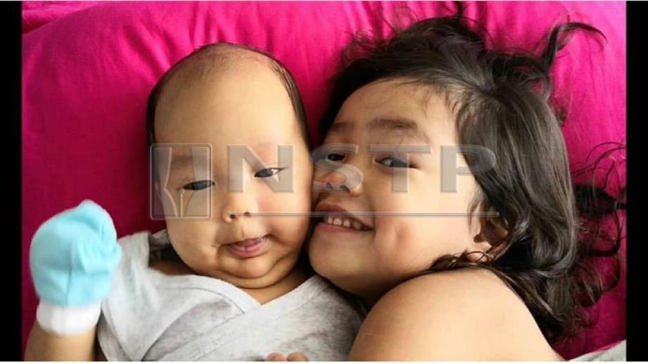ANAK sulung Lana, Gia Quinn McKienzie bersama adiknya, William. FOTO Ihsan Lana Nordin