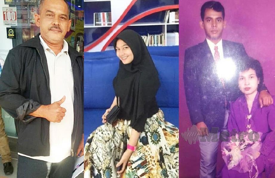 (FOTO KANAN) RAHIM dan isteri keduanya, Suryati yang disangkanya terkorban dalam tragedi tsunami Aceh. (TENGAH) Nurul Happy Zalindraa tidak pernah berjumpa bapanya. (KIRI) Rahim Said.