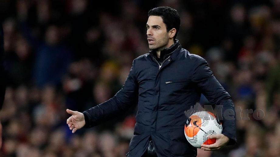Pengurus Arsenal, Mikel Arteta. FOTO Agensi