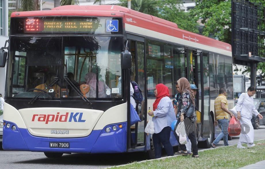 BAS RapidKL di sekitar Kuala Lumpur. FOTO Hafiz Sohaimi