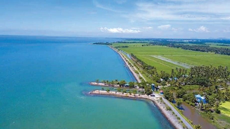 DULUNYA kawasan laut ini adalah jelapang padi milik penduduk.