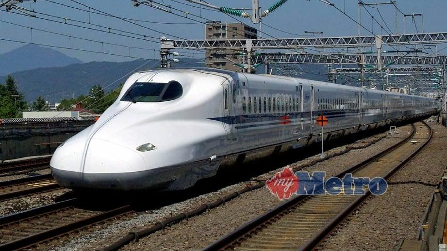 KERETA Api Berkelajuan Tinggi (HSR) Shinkansen. FOTO arkib NSTP