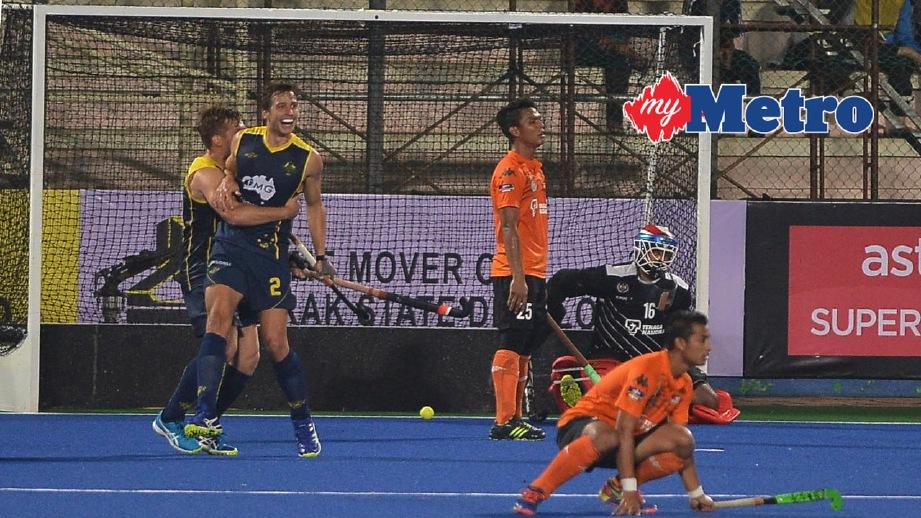 MALAYSIA tewas 1-6 kepada Australia pada hari kedua Kejohanan Hoki Piala Sultan Azlan Shah 2017. FOTO Bernama