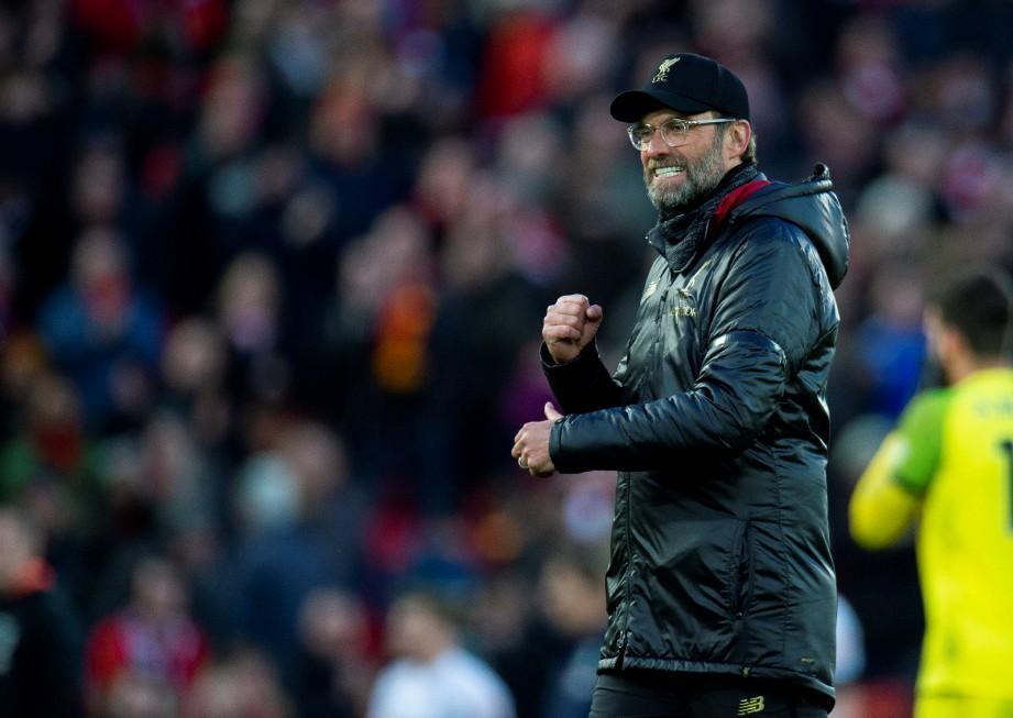 Jurulatih Liverpool Juergen Klopp. FOTO Agensi