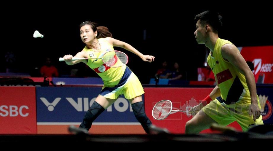 AKSI  Peng Soon dan  Liu Ying  ketika menentang gandingan Jepun di Axiata Arena. FOTO Eizairi  Shamsudin