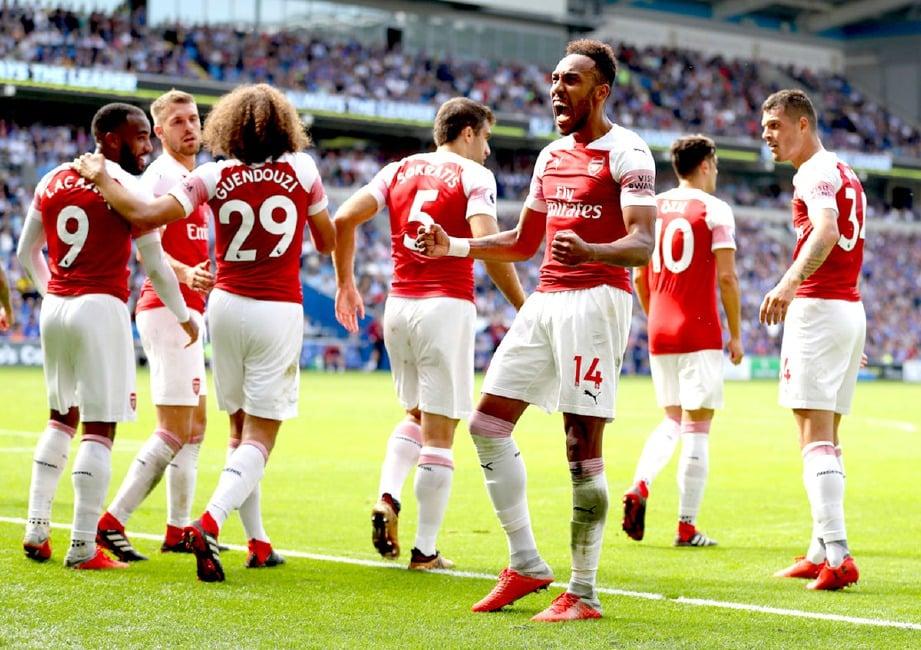 AUBAMEYANG jadi sandaran Arsenal benam Chelsea. FOTO Zimbio