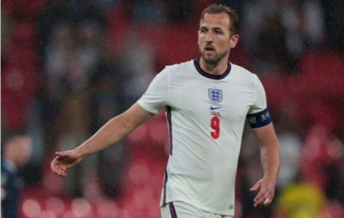 Kane mengetuai England pada kempen Euro 2020. FOTO AFP
