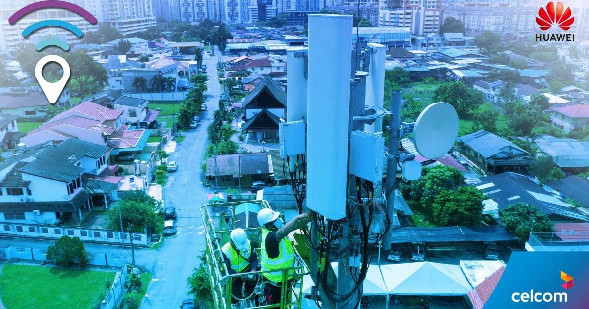 Celcom, Huawei guna rangkaian Smart 8T8R FDD