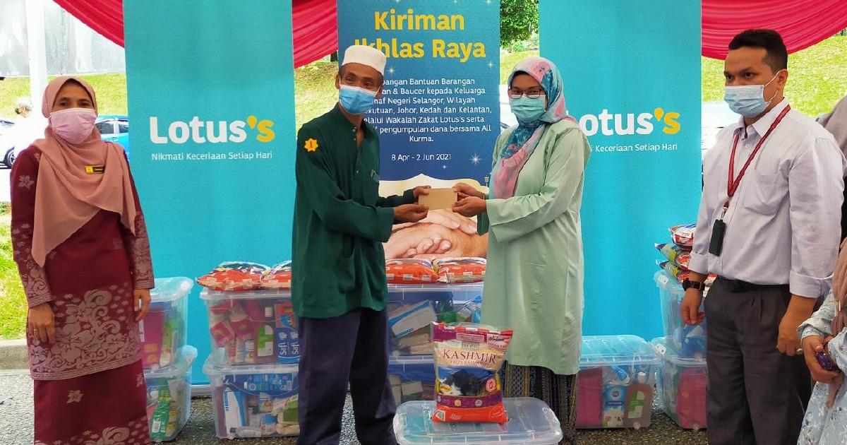 Lotus's Malaysia bantu 100 asnaf