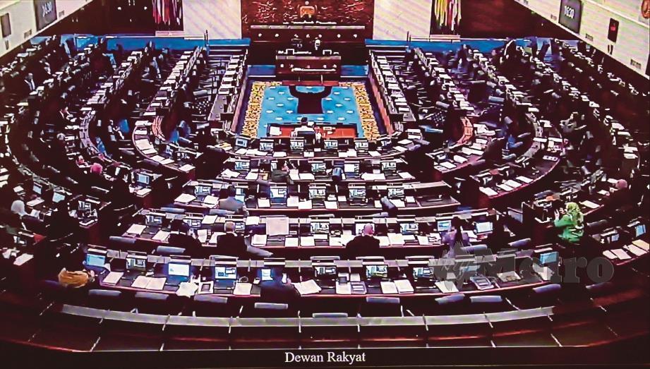 Dewan Rakyat Parlimen di Bangunan Parlimen. FOTO NSTP