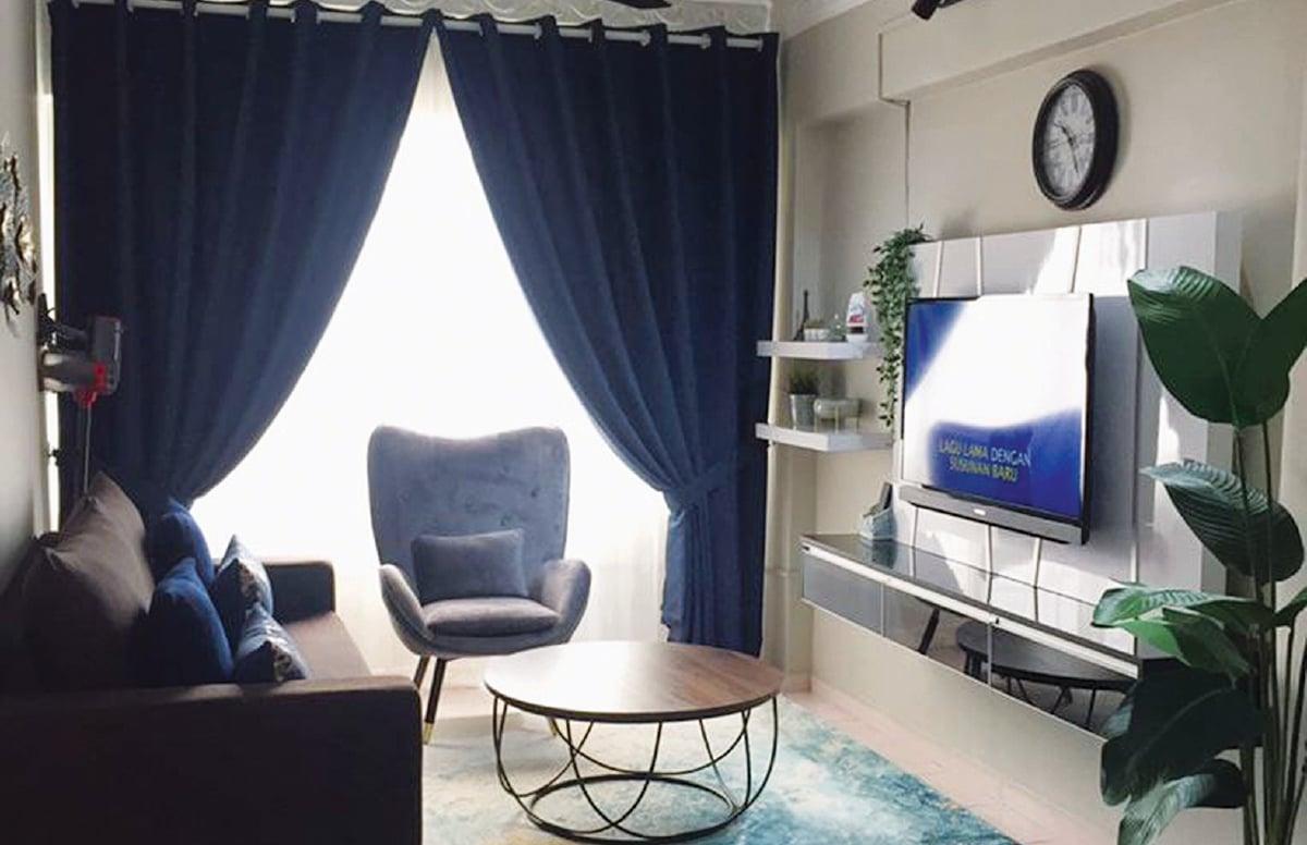 DEKORASI moden menyerikan rumah pangsa milik pasangan, Nordahiyah dan Mohamad Safuan.
