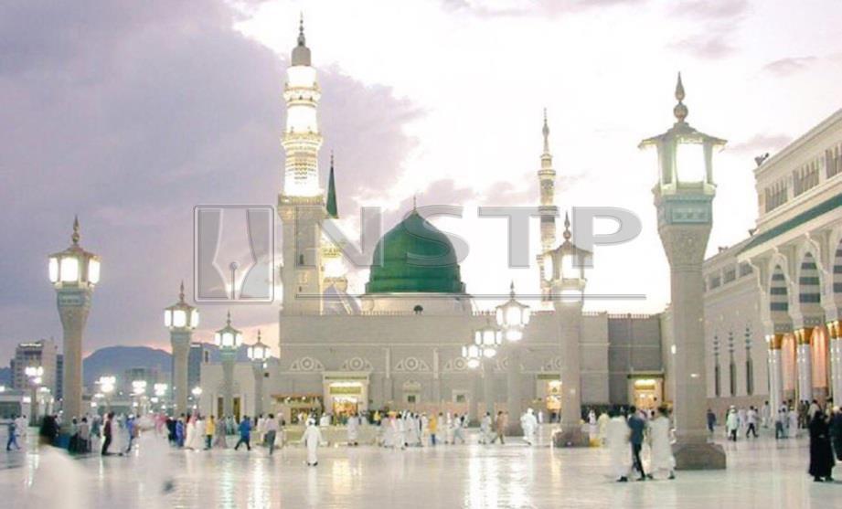 FOTO Hiasan Masjid Nabawi.