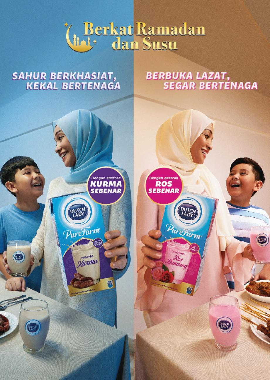 SAHUR berkhasiat dan berbuka dengan lazat bersama Dutch Lady susu kurma dan ros bandung edisi Ramadan.