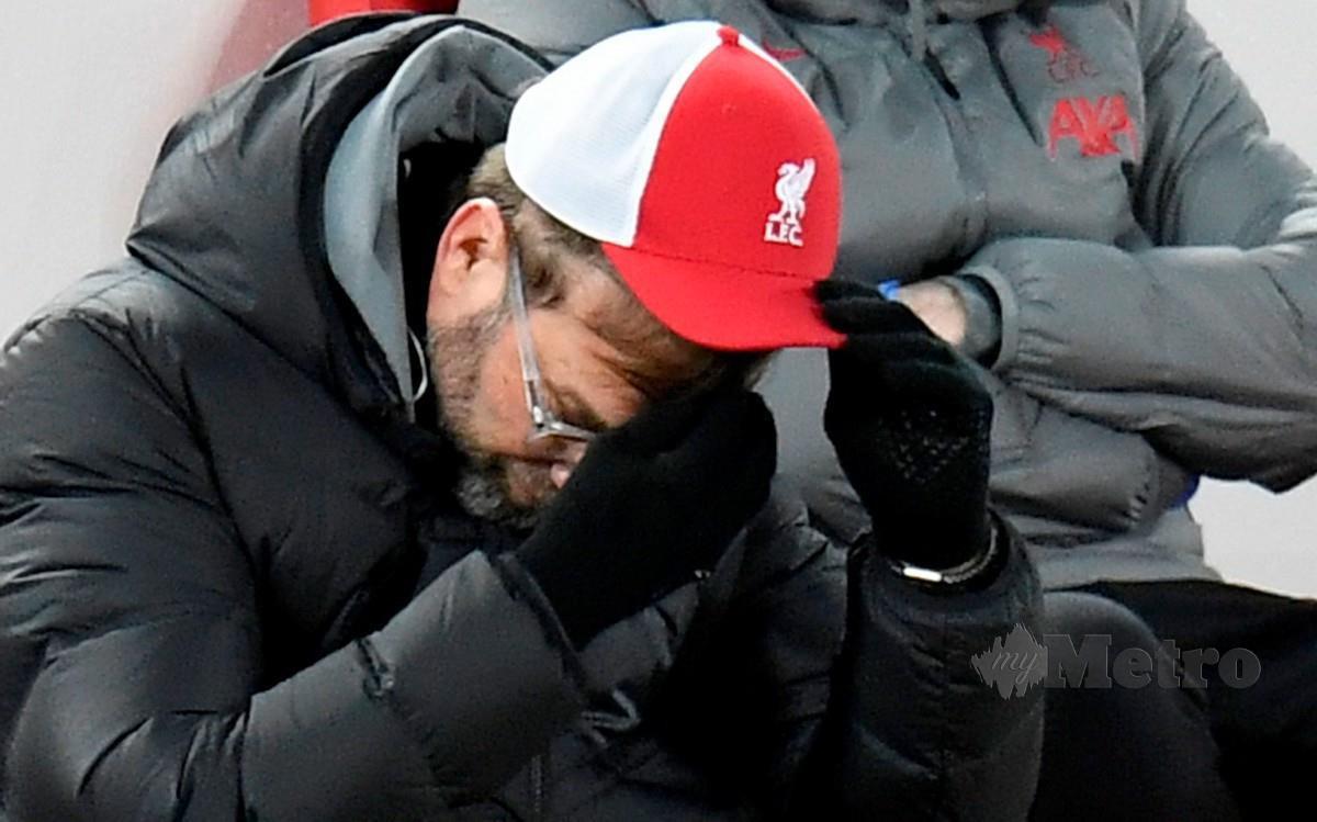 KLOPP mengakui kekalahan Liverpool kepada Burnley di laman sendiri membuatkan beliau tersentak. FOTO AFP