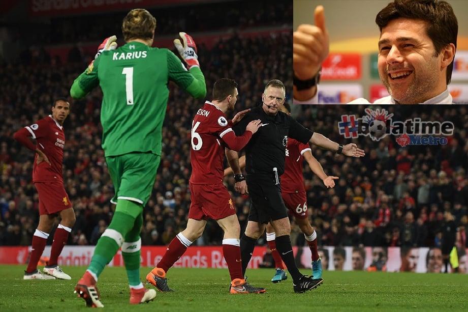 MOSS (tengah) memberiakan dua penalti kepada Spurs. FOTO/AFP