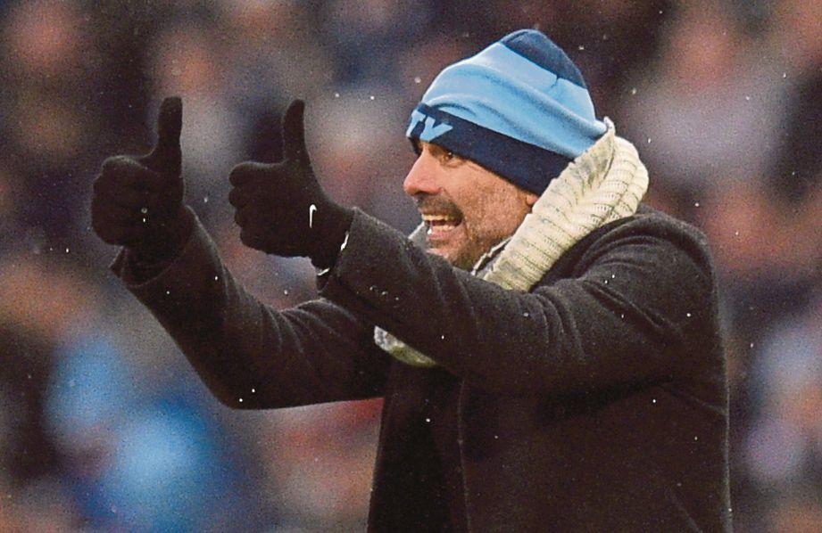 PENGURUS Manchester City, Pep Guardiola. FOTO AFP
