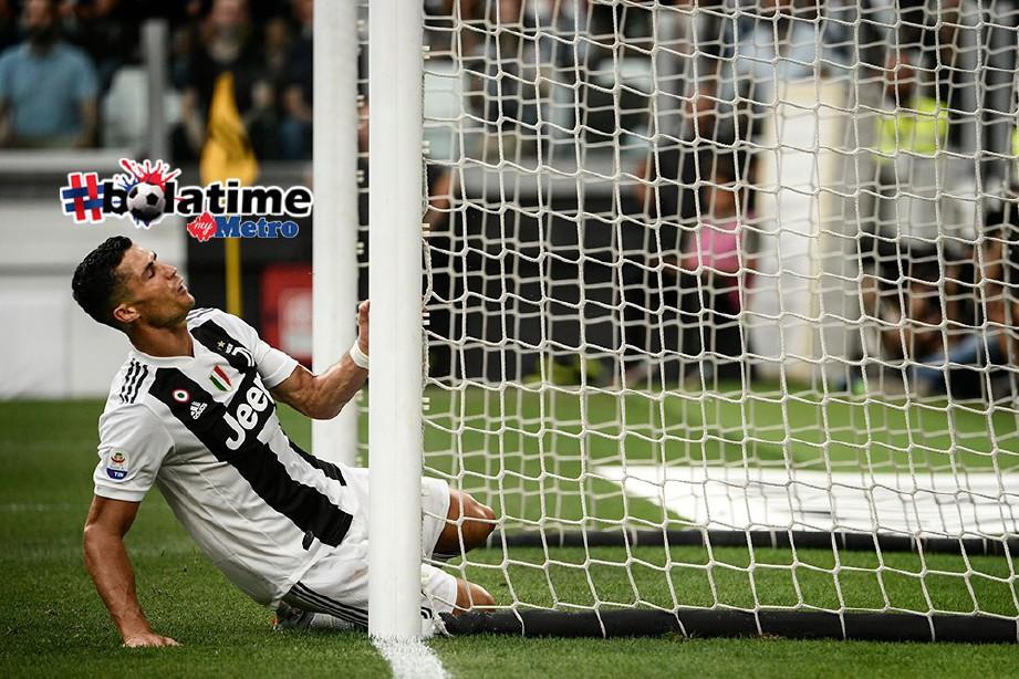 RONALDO belum raih sebarang gol dalam serie A. FOTO/AFP