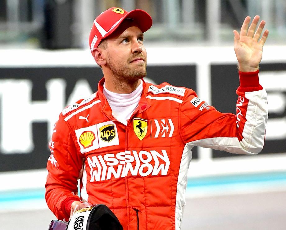 VETTEL sudah memasuki musim kelima bersama pasukan Ferrari. FOTO AFP