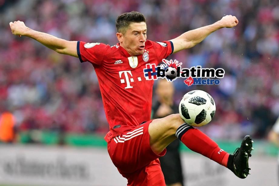 BINTANG Bayern Munich, Robert Lewandowski. FOTO AFP