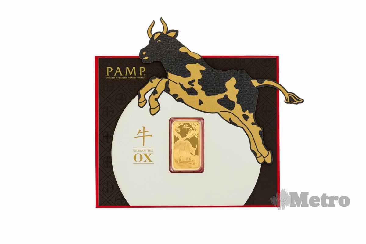 BAR Emas 100 gram sesuai dijadikan hadiah sebagai simpanan pelaburan.