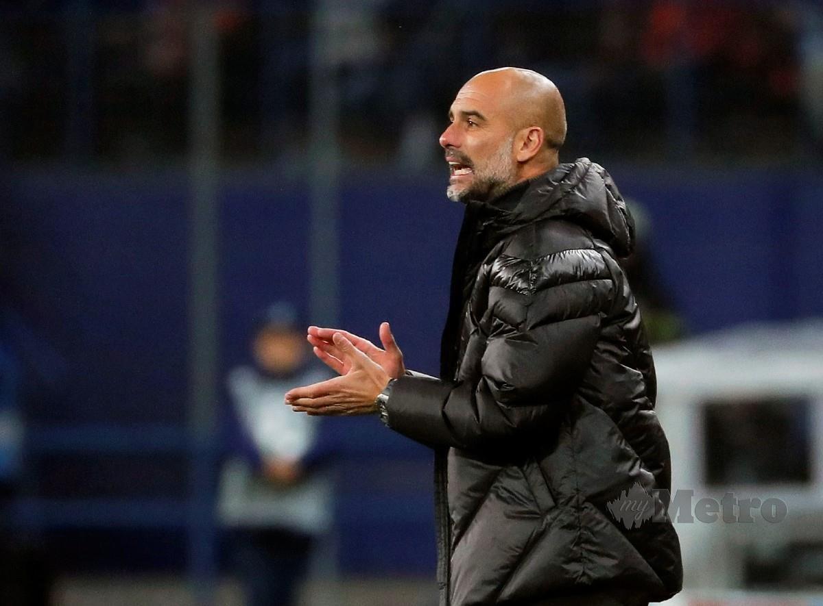 Pengurus Manchester City, Pep Guardiola. FOTO Agensi