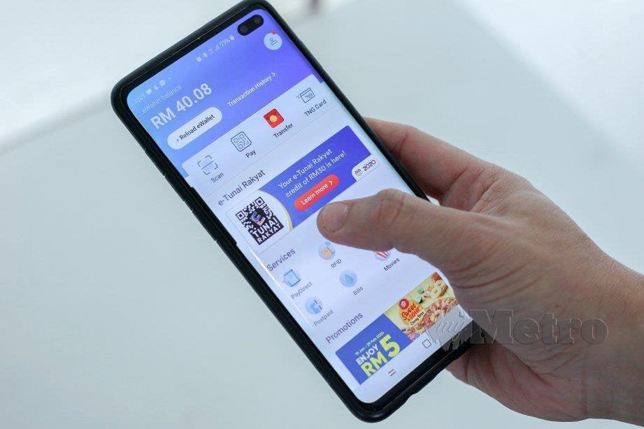 APLIKASI Touch 'n Go antara e-dompet yang ada di pasaran. FOTO arkib NSTP