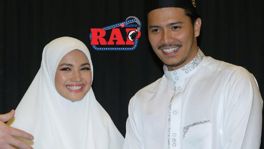 FAZURA (kiri) bersama Fattah Amin pada sidang media selepas kembali dari Makkah, 23 November lalu. FOTO Nurul Syazana Rose Razman